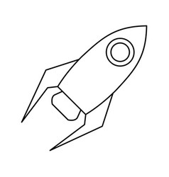 rocket startup launch thin line vector image