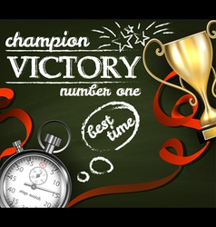 Victory background vector image vector image