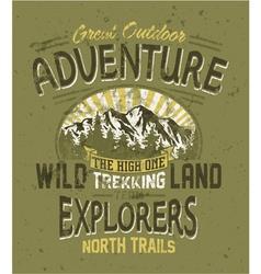 Great outdoor adventure vector image