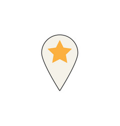 Location line icon pin sign map pointer vector