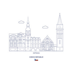 osrtava city skyline vector image