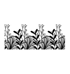 rustic branches with flowers and petals design vector image vector image