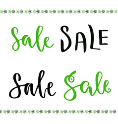 sale hand lettering set for online shop decoration vector image