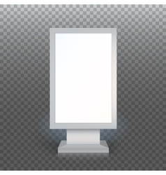 Blank advertising billboard vector image vector image
