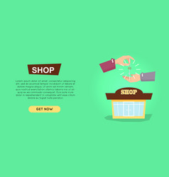 buying shop online property selling web banner vector image vector image
