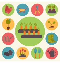 Gardening garden icons set vector