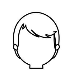 head man male thin line vector image
