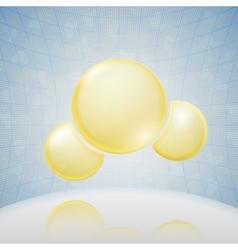 Science Background Yellow Molecule vector image