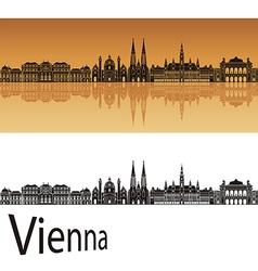 Vienna skyline in orange vector image vector image