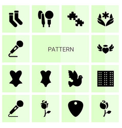 14 pattern icons vector