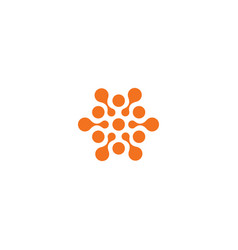 Abstract sun orange color related circles logo vector