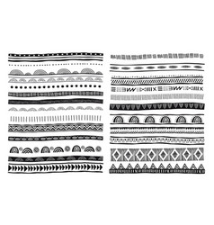 African tribal ethnic pattern brushes vector