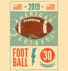 american football typographical vintage poster vector image
