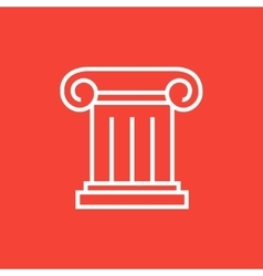 Ancient column line icon vector image