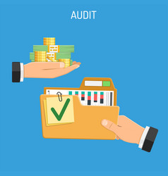 Auditing tax accounting concept vector