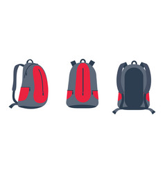 backpack for bike riding set vector image