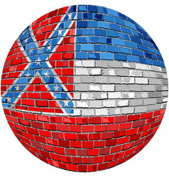 Ball with mississippi flag vector
