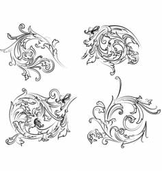 Baroque rosette vector