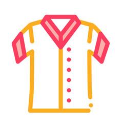 baseball t-shirt icon outline vector image