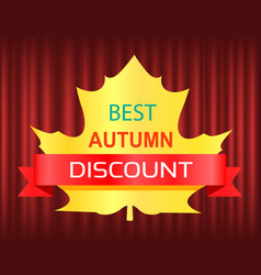 best autumn discount seasonal fall sale vector image