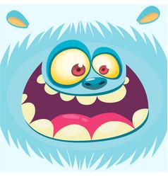 bigfoot snowman face mask cartoon vector image