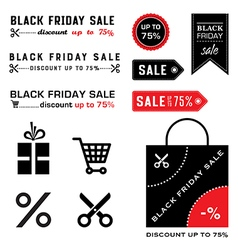 Black friday icons vector image