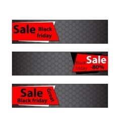Black friday sale Web banners vector