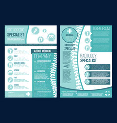 Brochure for orthopedics health center vector