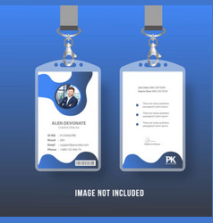 business id card vector image