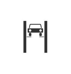 car lifting icon flat vector image