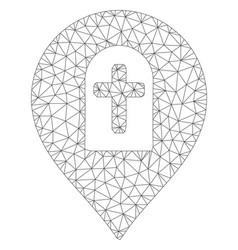 Cemetery marker polygonal frame mesh vector