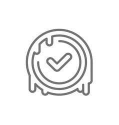 Checkmark stamp verified wax seal quality vector