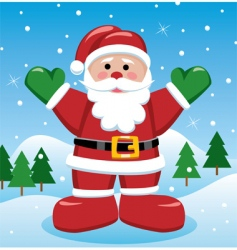 Christmas illustration of Santa vector image
