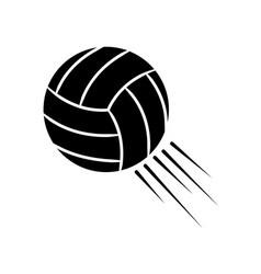 contour ball to play volleyball icon vector image