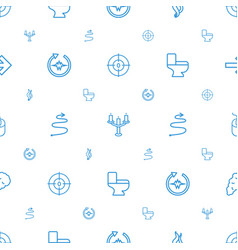 Curve icons pattern seamless white background vector