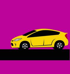 drawing a modern city car vector image