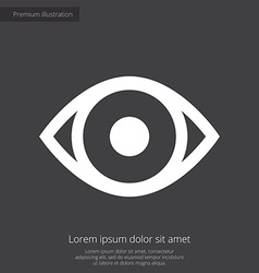 eye premium icon white on dark background vector image