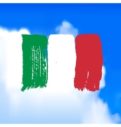 Flag of Italy against the sky vector image