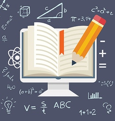 Flat design Online education vector