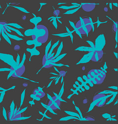 floral foliage seamless pattern vector image