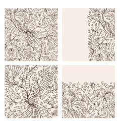 Floral ornament hand drawn sketch for your design vector image