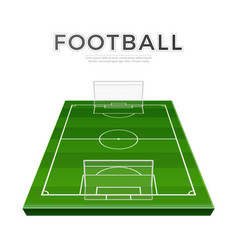 football playground 3d green soccer field vector image
