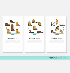 footwear business brochure linear vector image