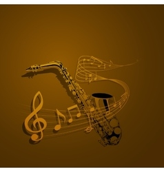 form of saxophone and notes vector image