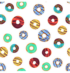 funny seamless pattern with chocolate vector image