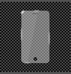 glass screen protector for smartphone glass cover vector image