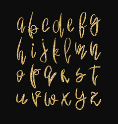 golden lowercase alphabet vector image
