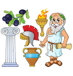 Greek theme collection 1 vector