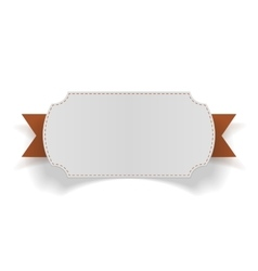 Greeting Card with orange Ribbon vector
