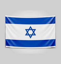 hanging flag of israel state of israel israeli vector image